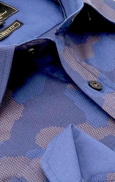 Heren Overhemd - Art Of Camouflage - Blauw-2