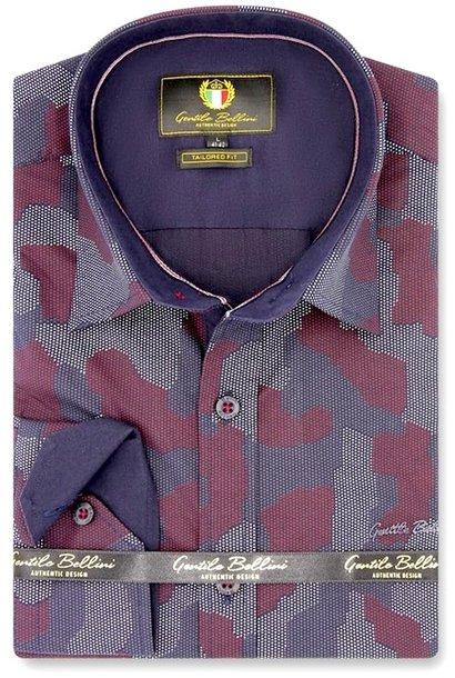 Heren Overhemd - Art Of Camouflage - Paars