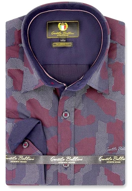 Heren Overhemd - Art Of Camouflage - Paars-1