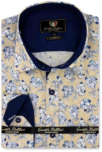 Heren Overhemd - Flower Paradise - Geel