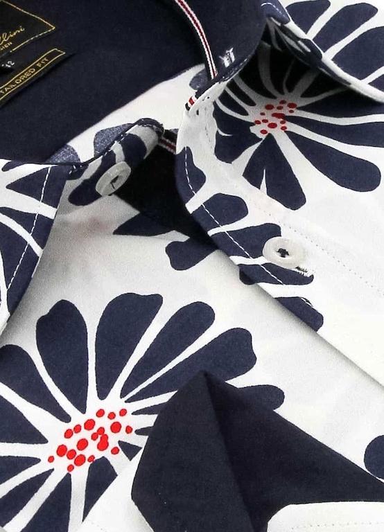 Heren Overhemd - Daisy Flower - Wit-2