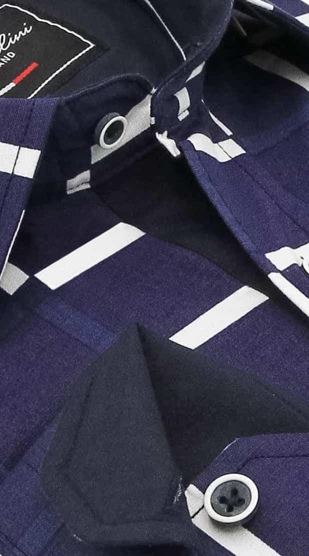 Heren Overhemd - Grid Mesh - Blauw-2