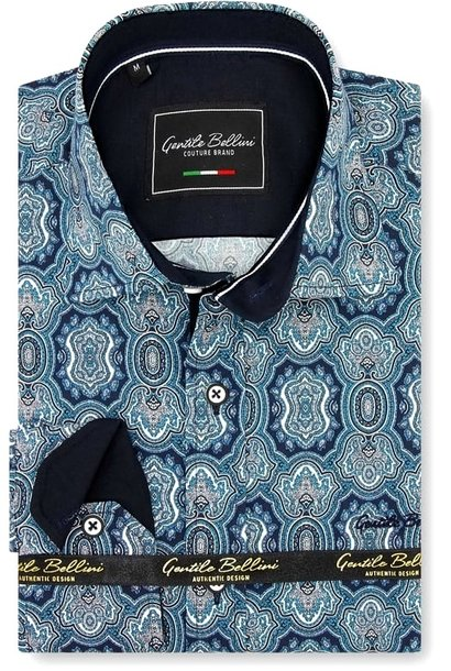 Heren Overhemd - Ottoman Mosaic - Blauw