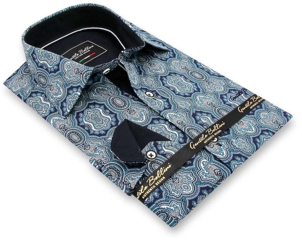 Heren Overhemd - Ottoman Mosaic - Blauw-3