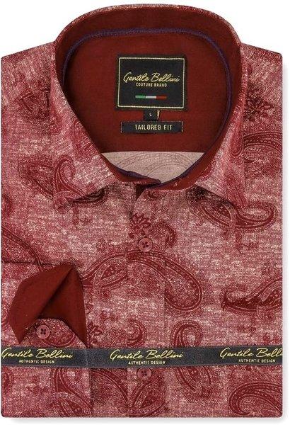 Heren Overhemd - Jacquard Paisley - Rood