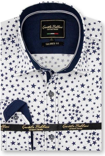 Heren Overhemd - Universe Stars - Wit