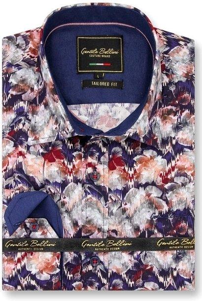 Heren Overhemd - Painting Artwork - Blauw