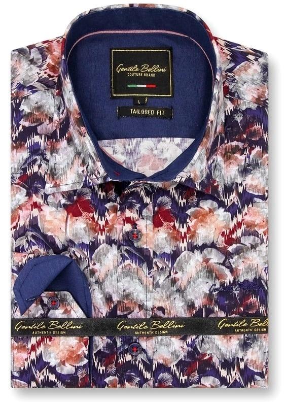Heren Overhemd - Painting Artwork - Blauw-1
