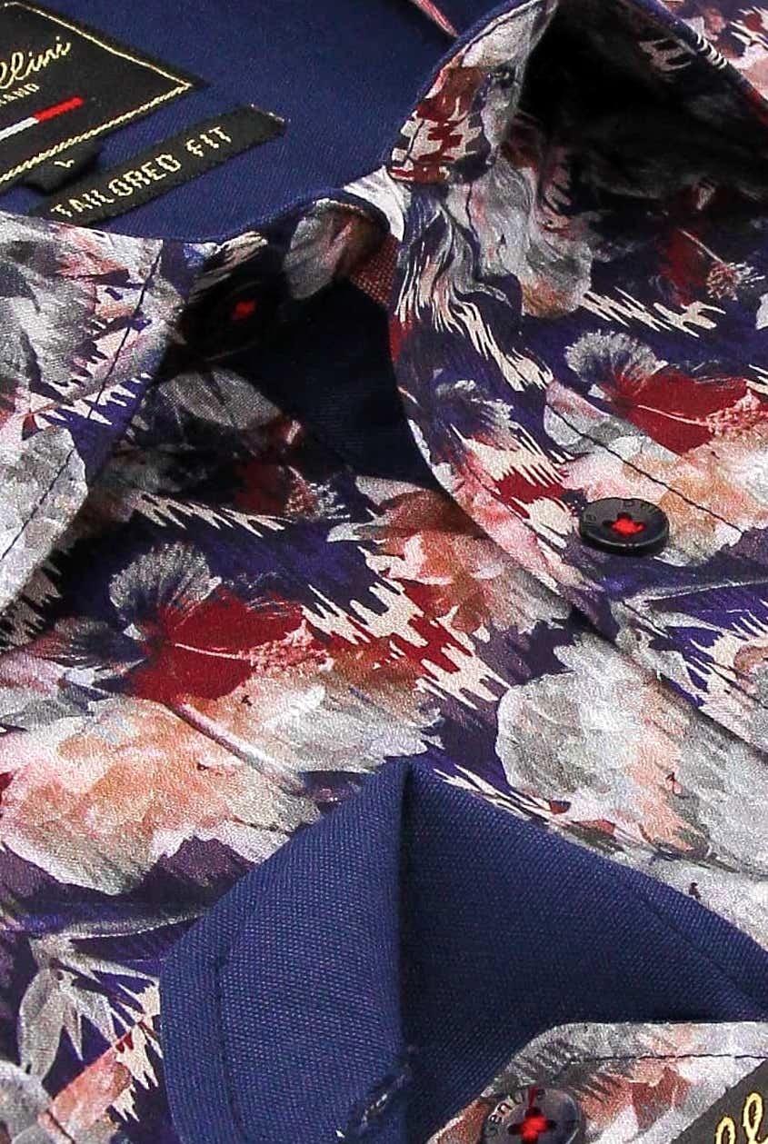 Heren Overhemd - Painting Artwork - Blauw-2