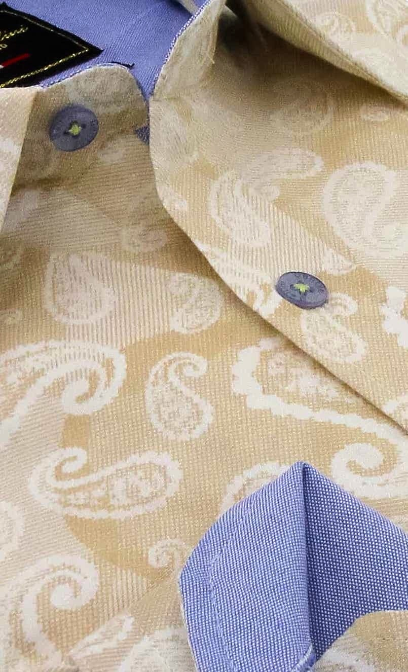 Heren Overhemd - Luxury Paisley - Beige-2