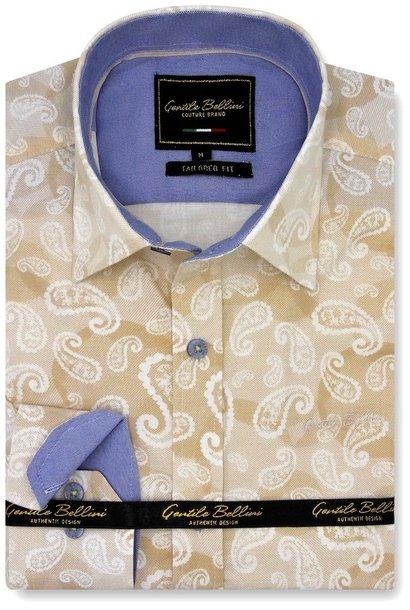 Heren Overhemd - Luxury Paisley - Beige