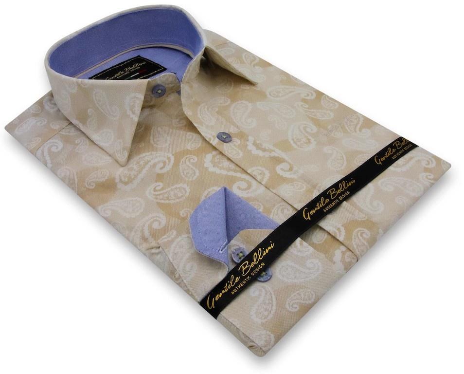 Heren Overhemd - Luxury Paisley - Beige-3