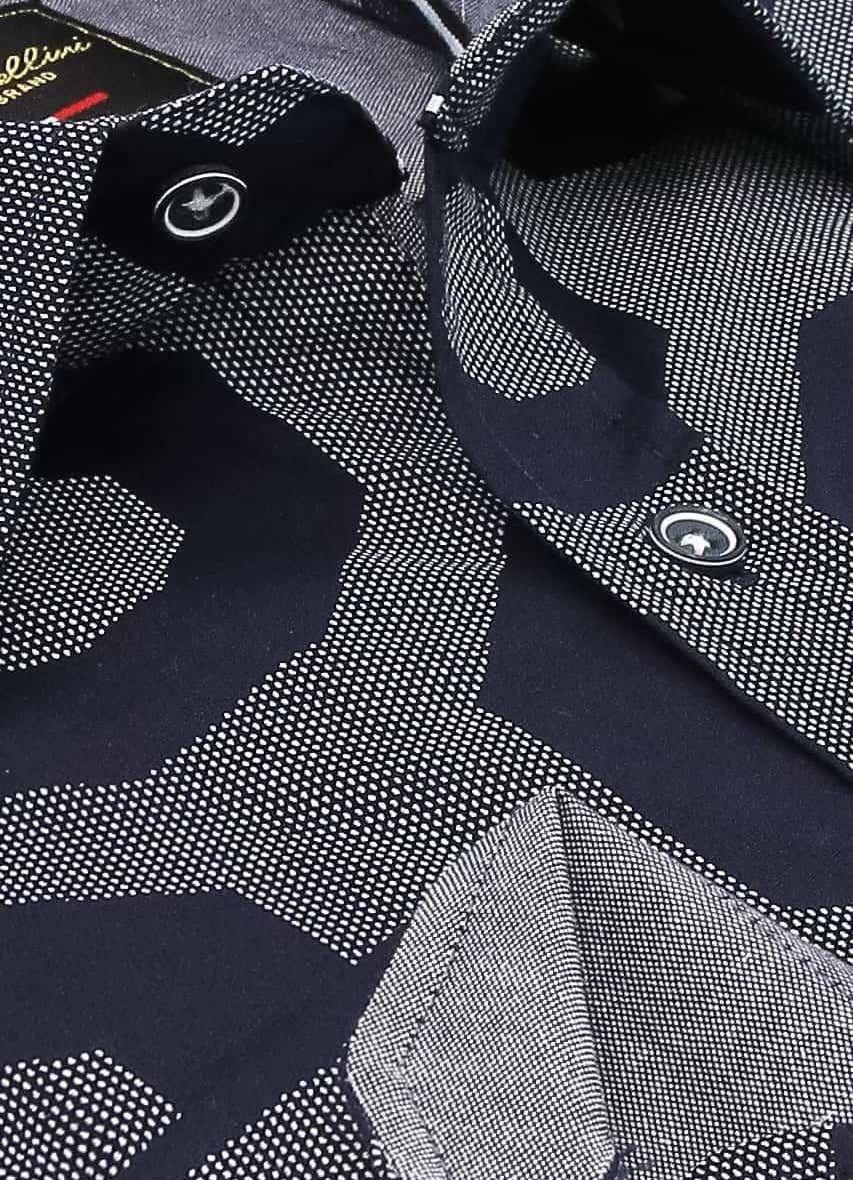 Heren Overhemd - Regular Octagon - Blauw-2