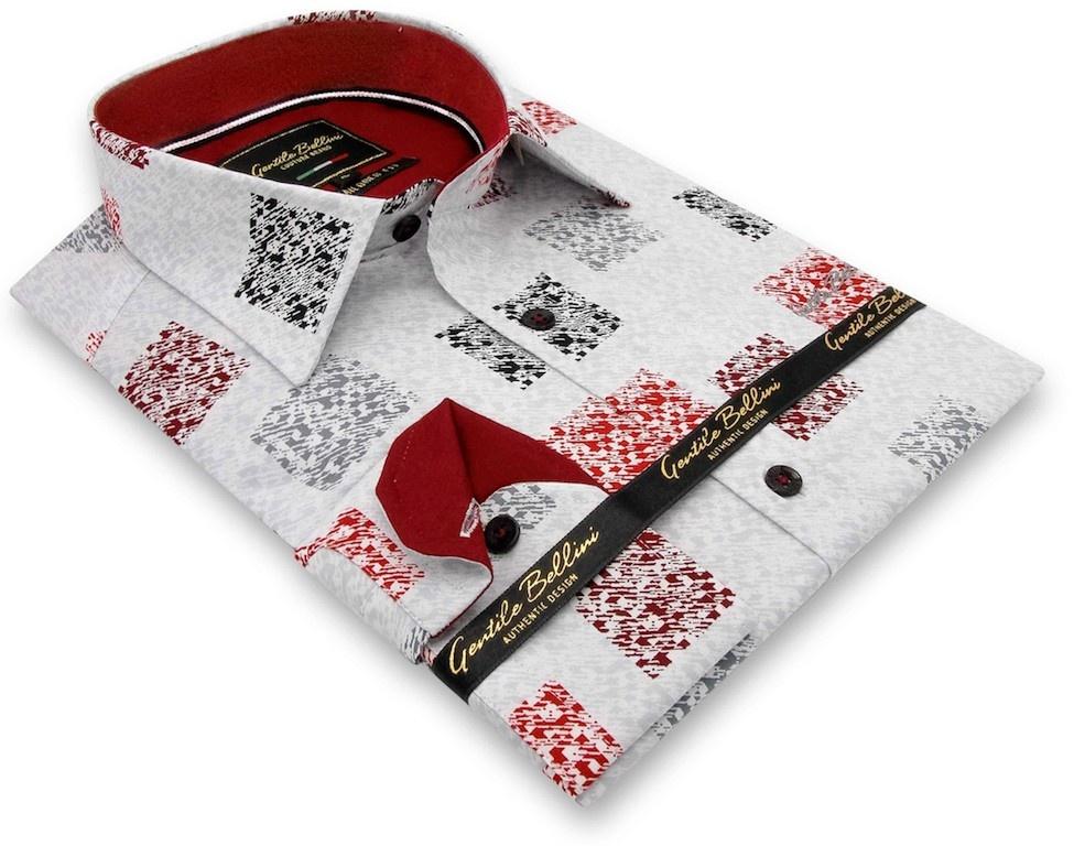 Heren Overhemd - Tile Block - Wit-3