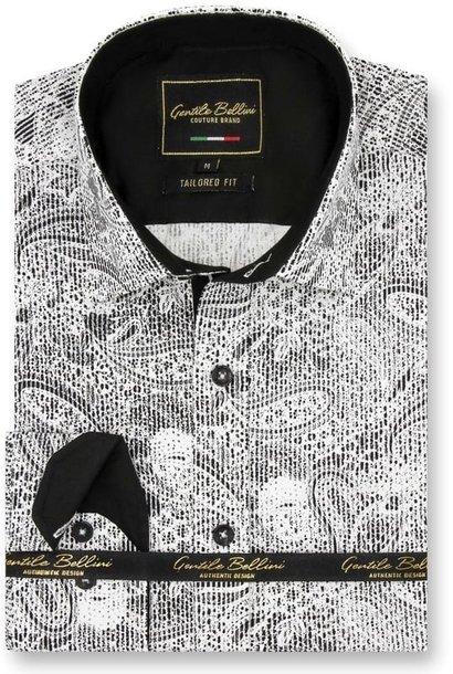 Heren Overhemd - Paisley Kashmir - Wit