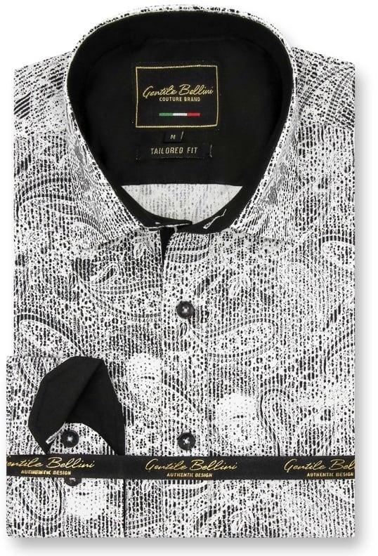 Heren Overhemd - Paisley Kashmir - Wit-1