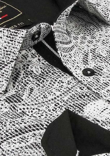 Heren Overhemd - Paisley Kashmir - Wit-2
