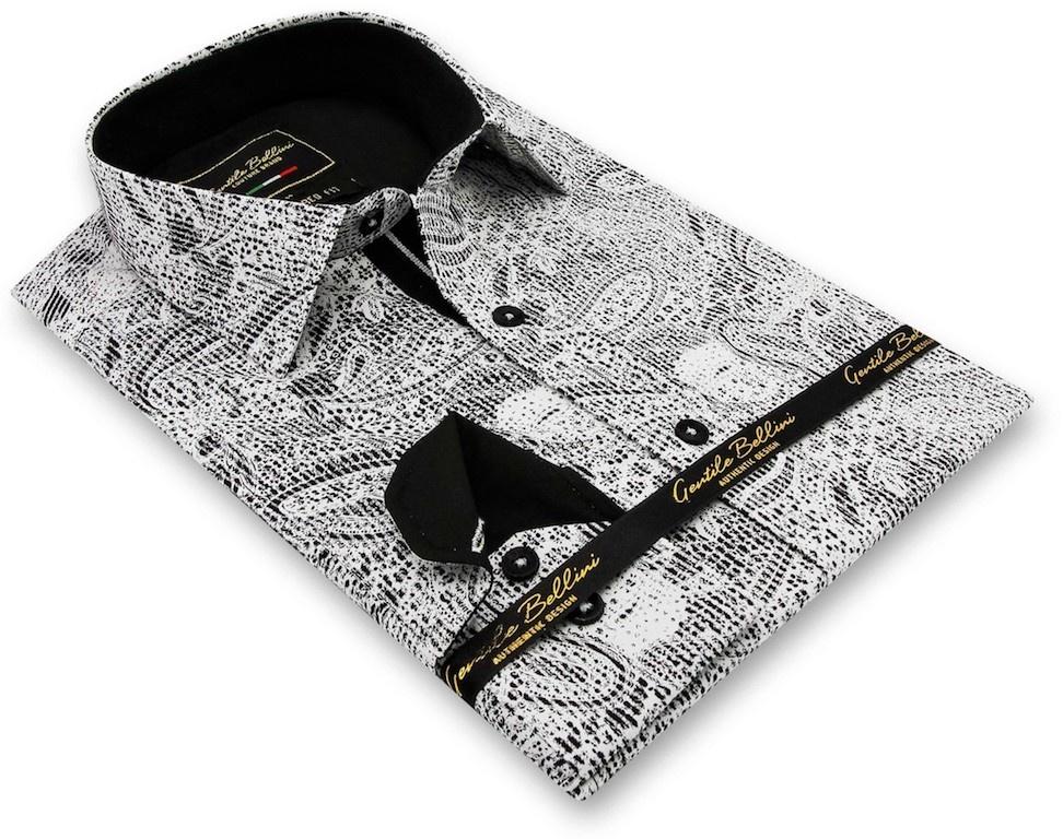Heren Overhemd - Paisley Kashmir - Wit-3