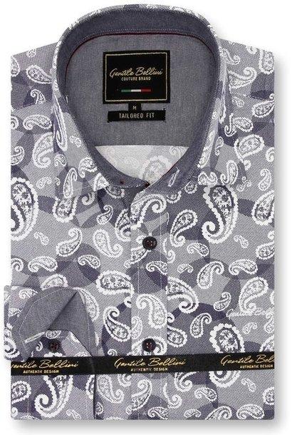 Heren Overhemd - Luxury Paisley - Blauw