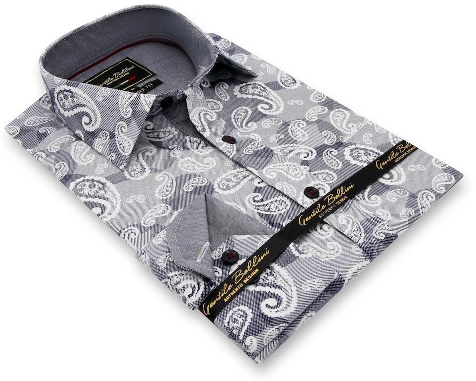 Heren Overhemd - Luxury Paisley - Blauw-3
