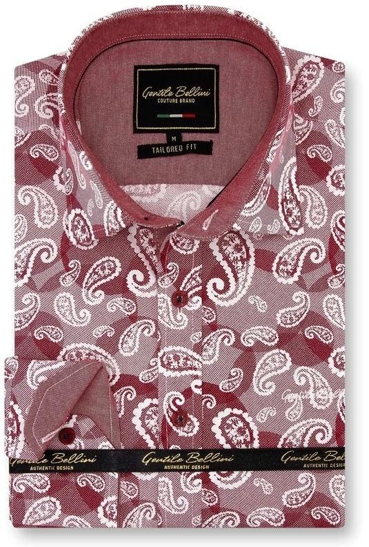Heren Overhemd - Luxury Paisley - Rood-1