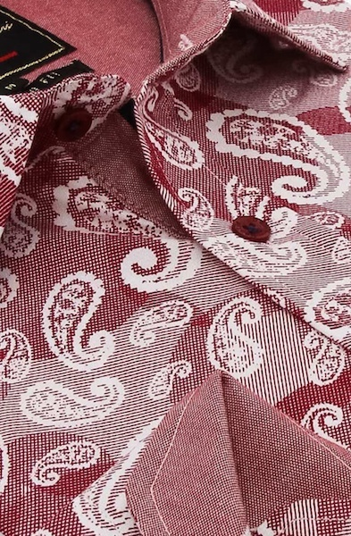 Heren Overhemd - Luxury Paisley - Rood-2