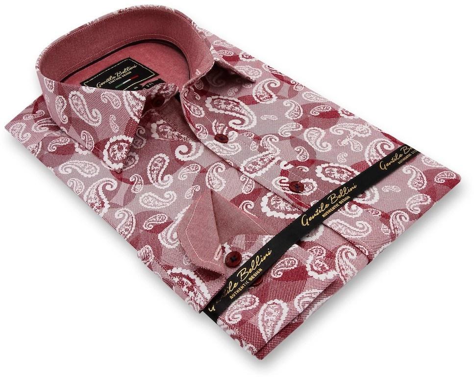Heren Overhemd - Luxury Paisley - Rood-3