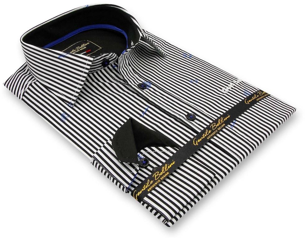 Heren Overhemd - Striped Sailor - Wit-3