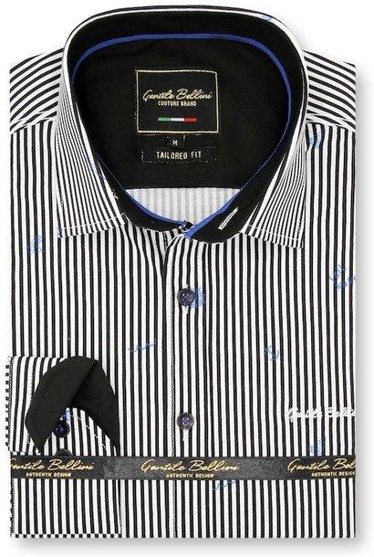 Heren Overhemd - Striped Sailor - Wit