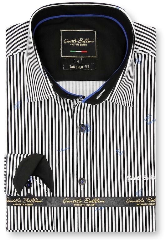 Heren Overhemd - Striped Sailor - Wit-1