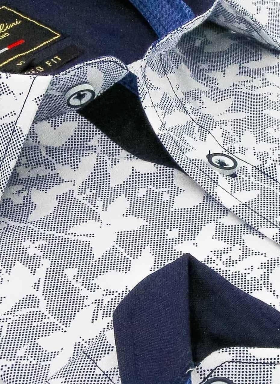 Heren Overhemd - Flying Leaf - Grijs-2