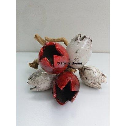 Tulpjes op hout- Frieda Theuns