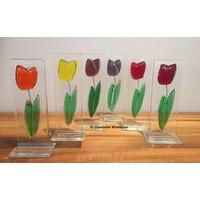 Glazen tulp