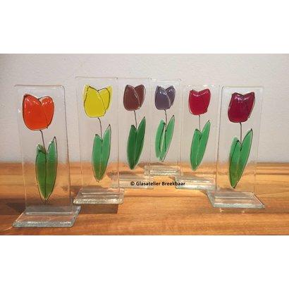 Glazen tulp - Glasatelier Breekbaar