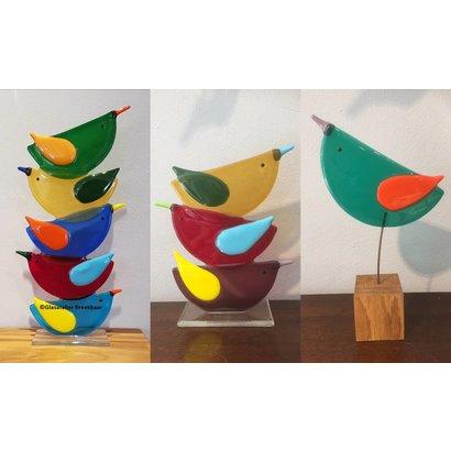 Glazen vogel - Glasatelier Breekbaar