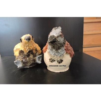 Vogel in Pot - Keramiek van Pien