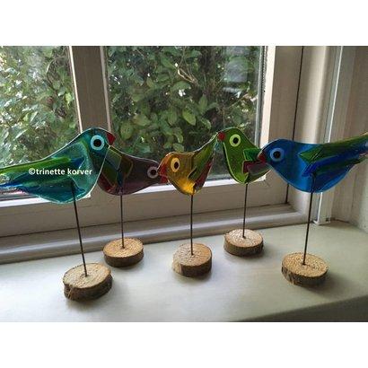 Vrolijke vogels - Trinnete Glas