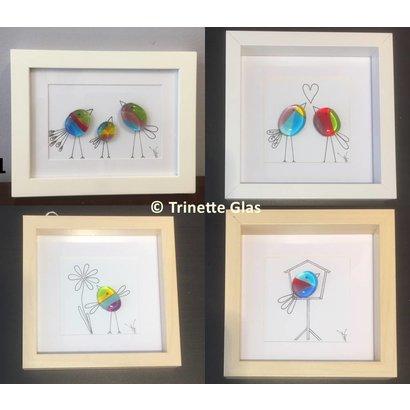 Vogelschilderij - Trinette Glas