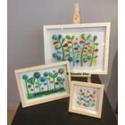 Bloemenschilderij van glas