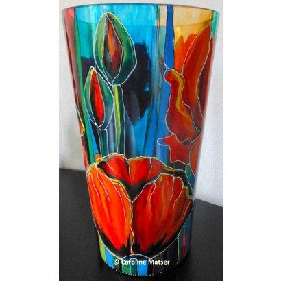 Vaas met klaprozen - Caroline Matser