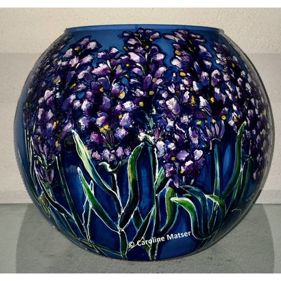 Glazen bolvaas met lavendel - Caroline Matser - Copy