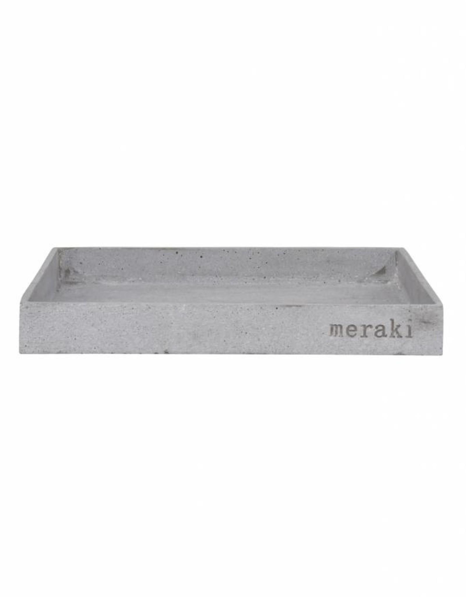 Meraki Grey Pulverized Stone and Resin Tray
