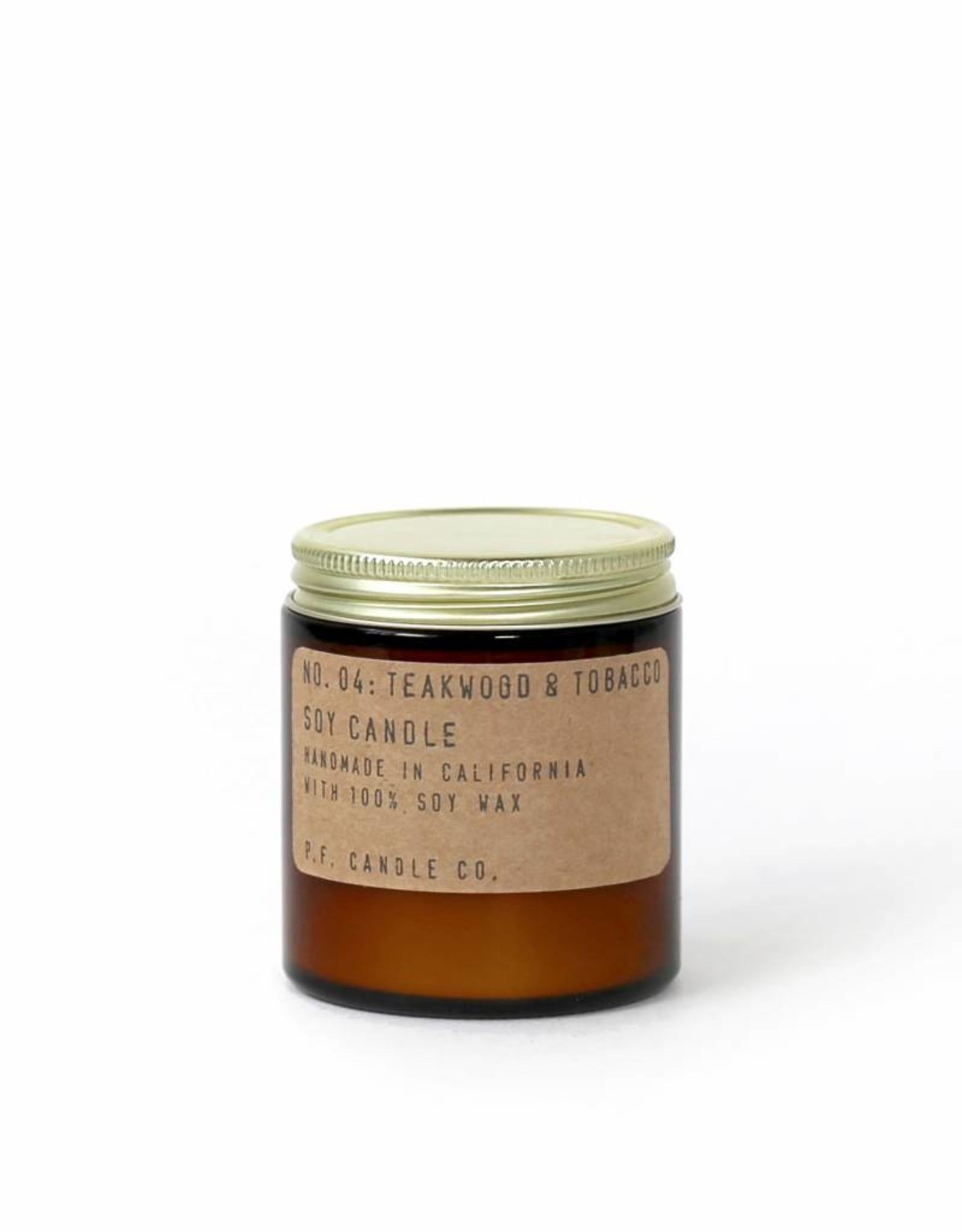 P.F.Candle & Co 7.2oz Teakwood and Tobacco No 4 Soy Wax Scented Candle