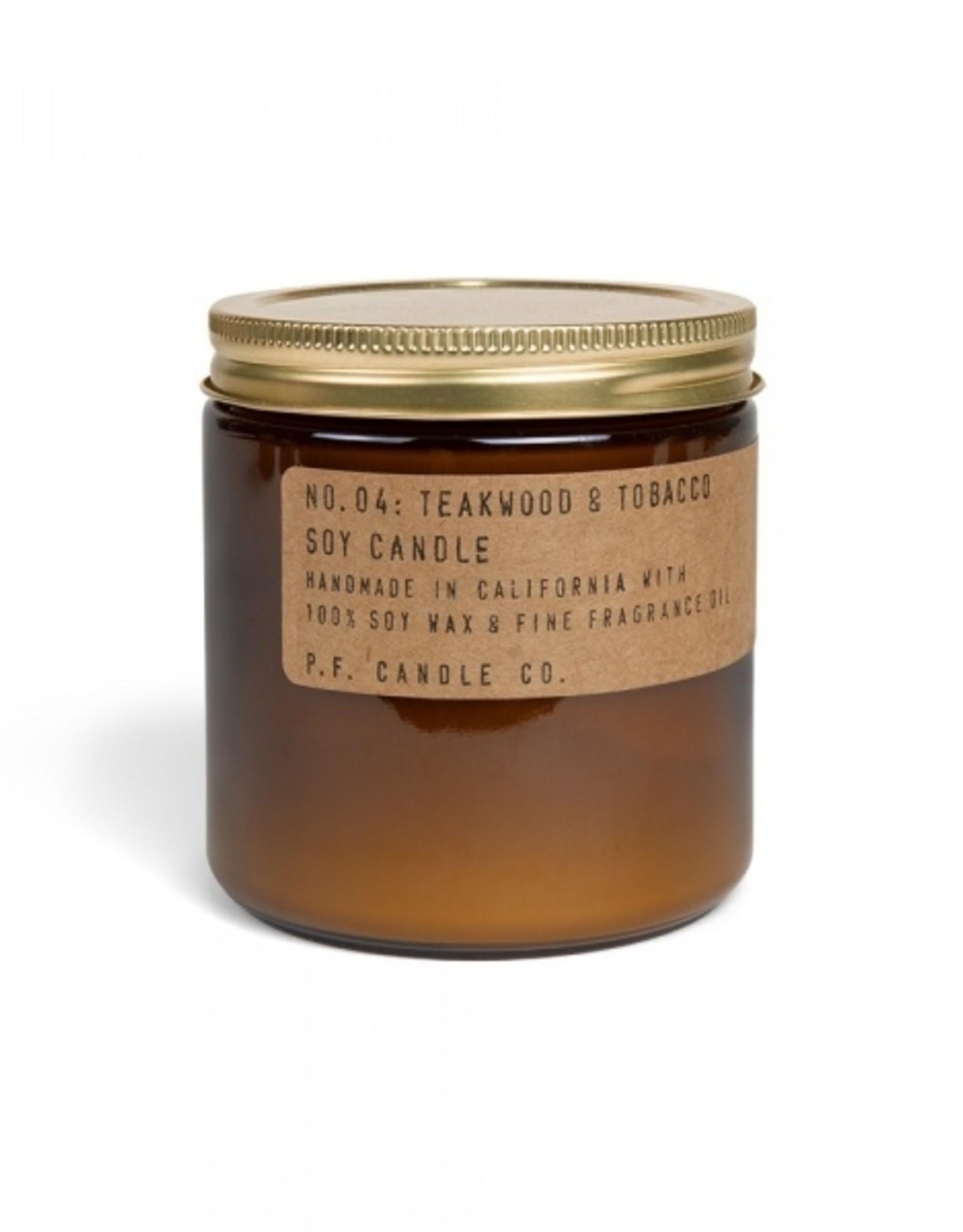 P.F.Candle & Co No.4 Teakwood & Tobacco geurkaars Large