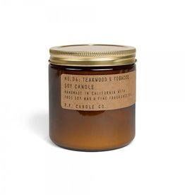P.F.Candle & Co No.4 Teakwood & Tobacco geurkaars Large