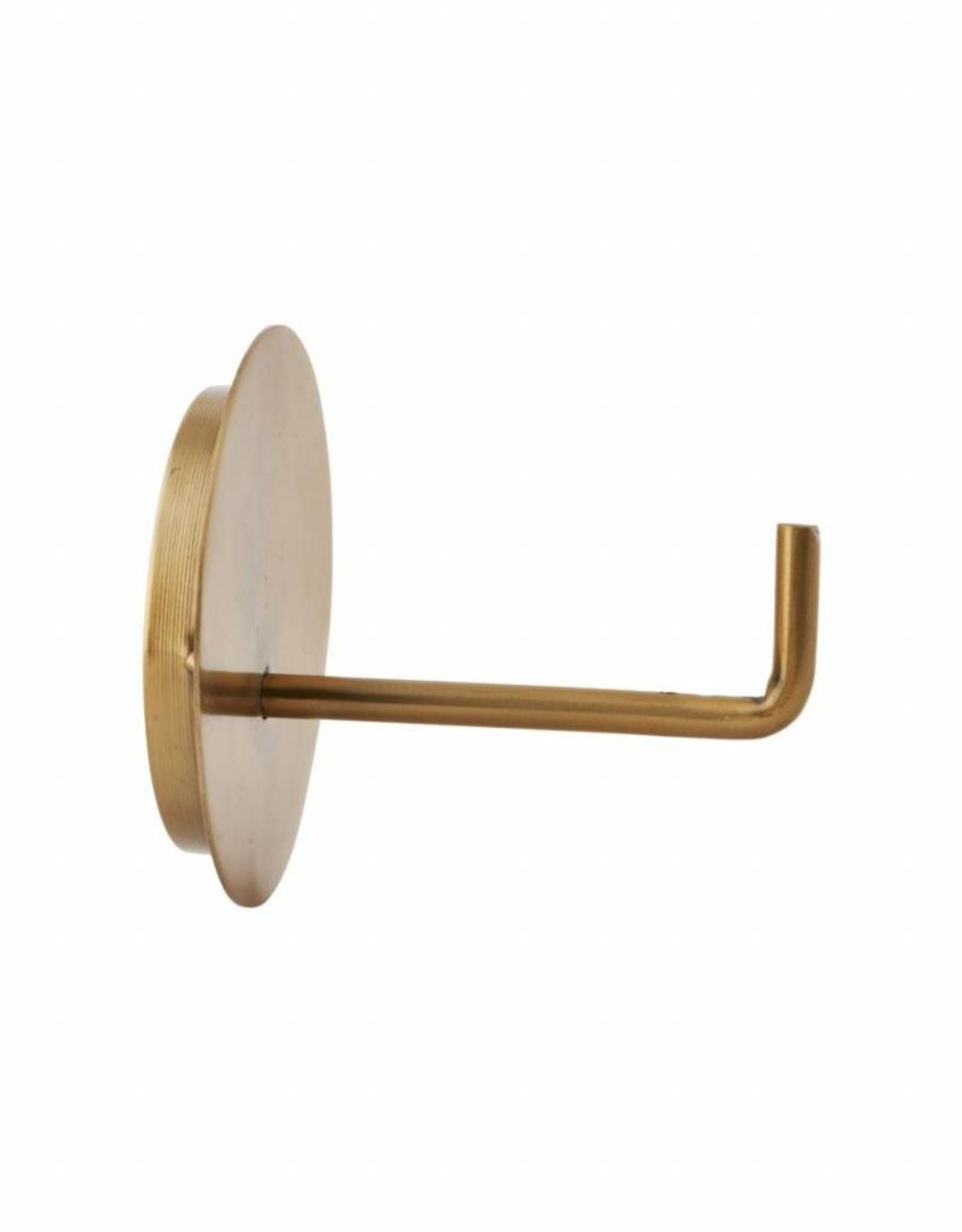 House Doctor Brass Text Toilet Roll Holder