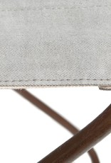 Light Grey Recycled Canvas and Steel Mekong Nights Foldable Stool