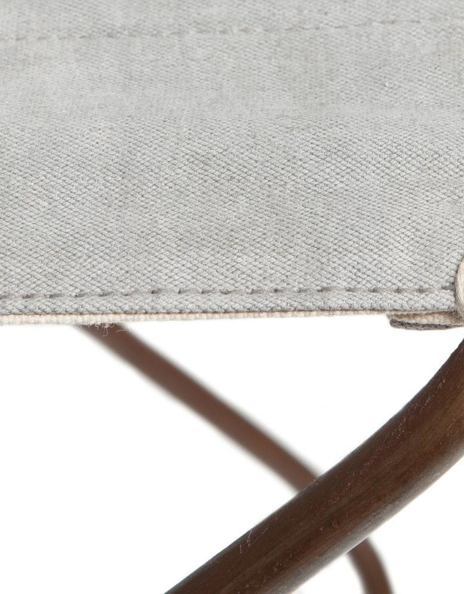 AAI made with Love Light Grey Recycled Canvas and Steel Mekong Nights Foldable Stool