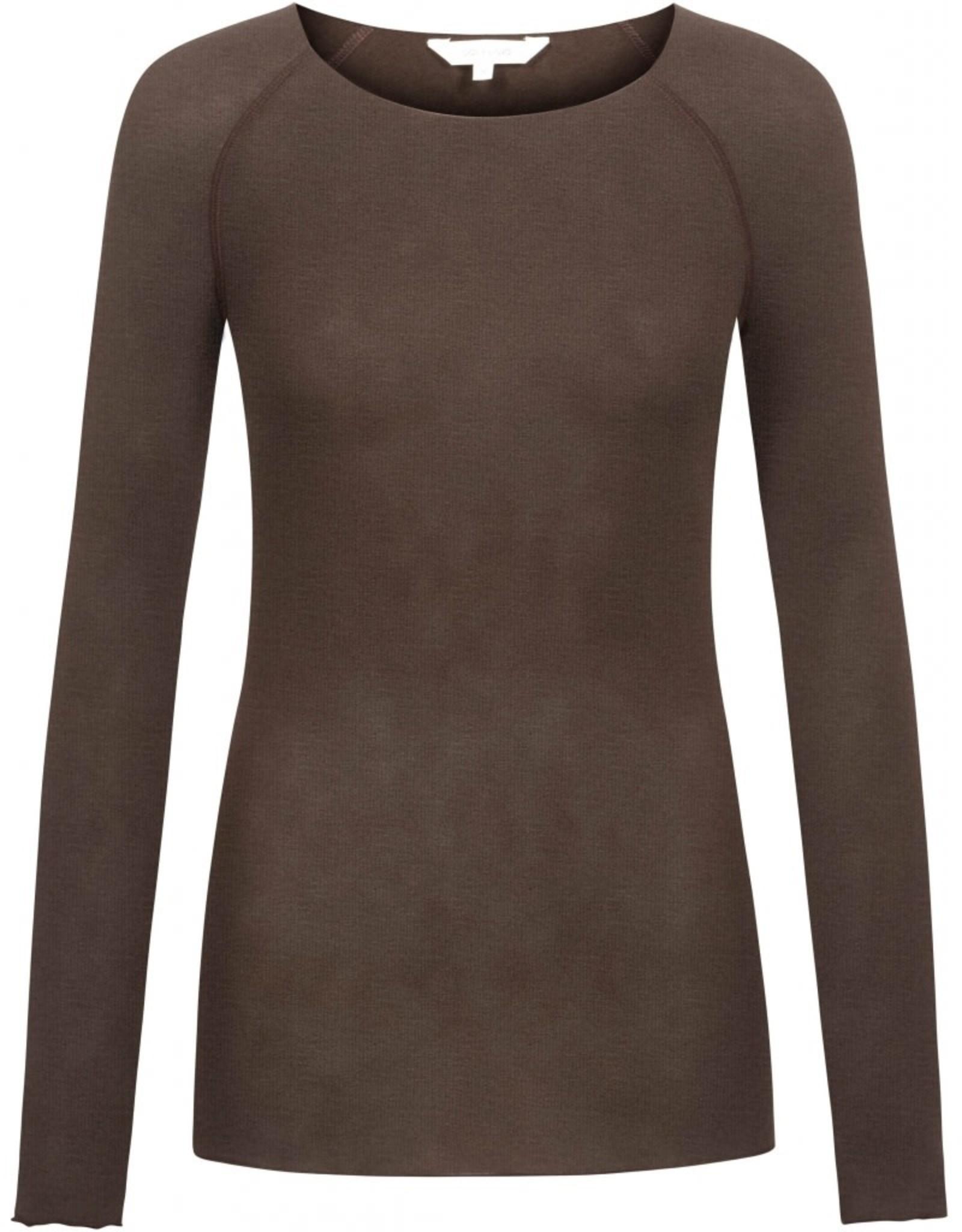 Gai&Lisva Amalie shirt wol/viscose Coffee Bean