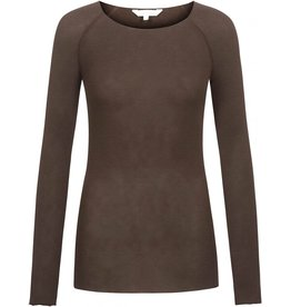 Gai&Lisva Amalie shirt wol/viscose Coffee Bean